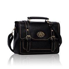 Black fashion satchel