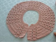 Anyone Who Holds A Hand Crochet And Know - Diy Crafts - maallure Crochet Yoke, Crochet Vest Pattern, Crochet Collar, Crochet Stitches Patterns, Irish Crochet, Hand Crochet, Knitting Patterns, Diy Crafts Knitting, Diy Crafts Crochet