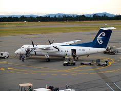 Air New Zealand Link (Air Nelson) Type: De Havilland Canada Dash 8 Registration: ZK-NEG Location: Christchurch International Airport Date: Air New Zealand, Air Lines, International Airport, Planes, Aircraft, Canada, Type, Link, Airplanes