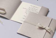 Invitación de boda-plata sencilla