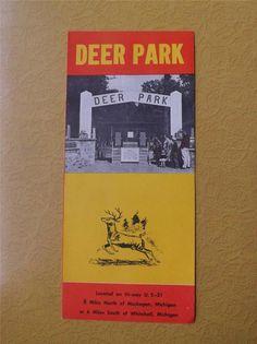 Deer Park Vintage Travel Brochure US 31 Michigan   eBay