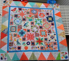 Happy Days Quilt competition During 2016 the members of Sarah's Happy Days BOM program have worked away on their quilts and Sarah is so proud of their progress! We have over 50 amazing quilt tops... Sarah Fielke Quilts, Sampler Quilts, Orphan, Quilt Top, Happy Day, Competition, Amazing, Tops