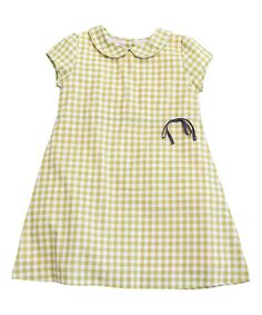 Olive Juice Anjou Pear Checkerboard Amelie Dress - Toddler & Girls | zulily