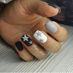Nails matte, stars