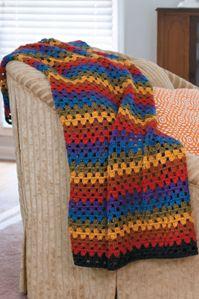 Crochet Happy Granny Square Afghan