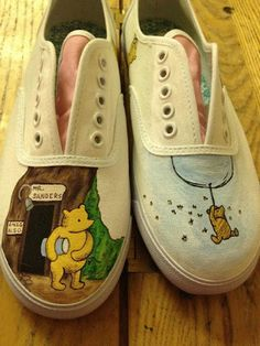 Michelle Rowlands hand painted winnie the pooh shoes f132a6c72