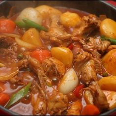 Korean Dishes, Korean Food, Beef, Chicken, Cooking, Recipes, Meat, Kitchen, Korean Cuisine