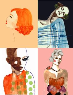 Love these fashion inspired prints by Peggy Wolf!
