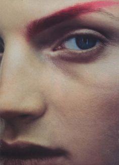 magenta eyebrow