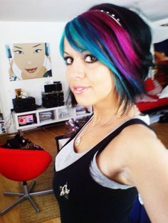 Short colored hair I would like to have maybe one day. It looks pretty cool!! :))
