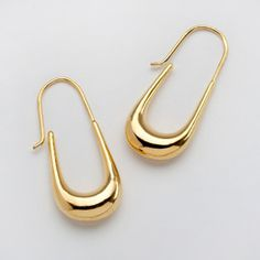 Grand Tour Gold Plated Earrings. Perfect to go with your power suit.