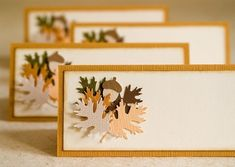 thanskgiving place cards | Soft Day Studios: Autumn Leaves Thanksgiving Place Cards $6.25