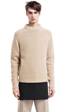 Clifton chunky wool sweater #AcneStudios #menswear #PreFall2014
