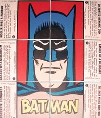 Batman Cards - 1966 Blue Bat Batman Puzzle Back