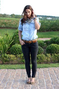 Jeans com jeans. Dupla perfeita! > A mesma camisa + sapatilha e 2 looks!!