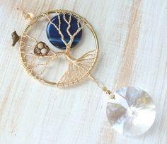 Tree suncatcher Bird nest Crystal by LifeForceEnergyShop on Etsy