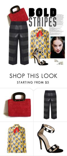 """black 1"" by beatrice-ballarini on Polyvore featuring moda, Balmain, Alexander Wang e Gucci"