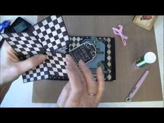 How to build a photo mini album with G45 Olde Curiosity Shoppe paper collection Part 13