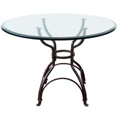 Garden Metal Base Dining Table | From a unique collection of antique and modern dining room tables at http://www.1stdibs.com/furniture/tables/dining-room-tables/