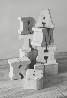 Hey, I found this really awesome Etsy listing at https://www.etsy.com/uk/listing/228270794/handmade-concrete-letters-105cm-high-x