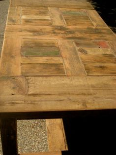 Dining Table :: Handcrafted from Reclaimed Wood! :: Photo Courtesy of Century Reform  www.facebook.com/centuryreform