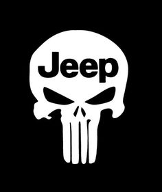 Punisher Skull Jeep - Vinyl Decal Choose Size and Color Made with 100% Automotive Grade Vinyl.