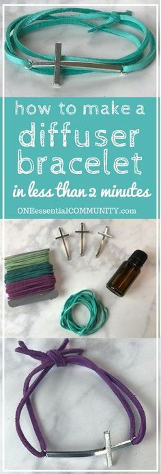 Make your own DIY essential oil diffuser bracelet with just a couple of supplies, less than 2 minutes to make, and no special craft skills needed. Fun for a girls night or make & take class. Plus there are lots of ideas for how to customize the scent of your diffuser bracelet to suit your mood: energizing to wake you up, lift your spirits, calm & relax, focus & concentrate, support immune system, and rev up your libido.