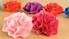 【Origami】How to make a Easy Carnation flower