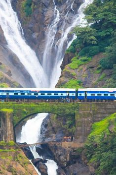 A complete travel guide to Dudhsagar Falls, Goa in India. The majestic Dudhsagar falls is a sight to watch during monsoon when it is at full glory. Goa Travel, India Travel Guide, China Travel, Travel Tours, Travel Destinations, Train Travel, Travel Maps, Vacation Travel, Nightlife Travel