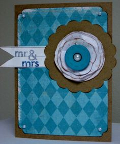 Mr. & Mrs. Crate paper card - Scrapbook.com - #scrapbooking #cardmaking #cratepaper