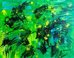 Abstract#4 by Caren Benzer Acrylic ~ 11 x 14