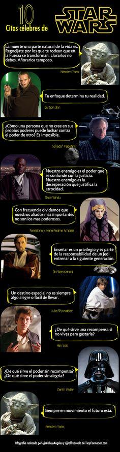 10 citas célebres de Star Wars #infografía