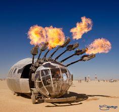 Burningman artcars | burning-man-fireball-art-car-photo-by-nick-saglimbeni
