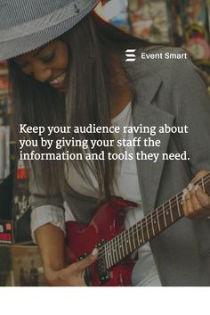 Keep your audience raving about you by giving your staff the information and tools they need. #EventProfs #ticketing #events