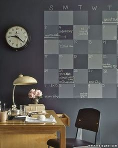 Paint a calendar right on the wall...with chalk paint! by Lay