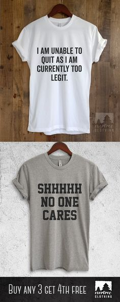 28b34303 Shh No One Cares Shirt. Adultish Shirt. Also available in Tank Tops &