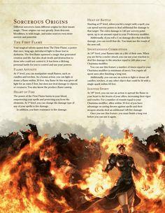 DnD 5e Homebrew — Elemental Sorceries by BoltNine Homebrew