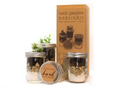 Mason Herb Garden Gift Set from MakersKit - I like this. Repin!