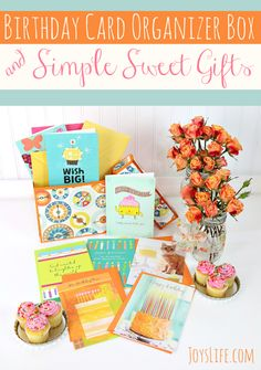 Create a Birthday Card Organizer Box using the Silhouette Cameo so you'll have cards on hand for every birthday!