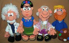 Frida, Einstein, Mozart y van Gogh amigurumi a crochet