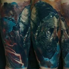 A dark, horrifying, and most of all awesome tattoo piece by Domantas Parvainis | Intenze ink