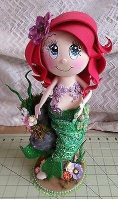 Disney the little Mermaid Ariel Fofucha Doll Foamie. Handcrafted w/Foam Paper, Foam Sheets & Fabric Craft Foam Art)) Little Mermaid Drawings, Little Mermaid Characters, Little Mermaid Movies, Little Mermaid Parties, Ariel The Little Mermaid, Foam Sheet Crafts, Foam Crafts, Diy Crafts, Craft Foam