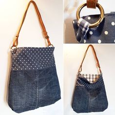 denim #upcycled #shoulderbag #crossbodybag #recycling #reuse #recycled #sustainablefashion #slowfashion #counciousfashion #handmade #pois