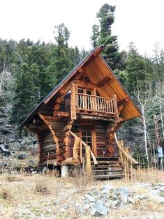 New Mexico: antiques, tiny houses, gorgeous scenery, rocks! LOVE this TINY HOUSE! So adorable! a tiny log cabin!