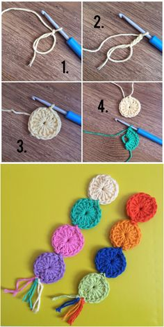 Crochet For Beginners 20 Amazing Free Crochet Patterns That Any Beginner Can Make---Crochet Circle Bookmark Free Pattern and Tutorial. Crochet Bookmarks, Crochet Books, Crochet Gifts, Diy Crochet, Tutorial Crochet, Crochet Bookmark Patterns Free, Beginner Crochet Patterns, Thread Crochet, Tatting Tutorial