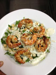 Veranda Restaurant, Greek Dishes, Grilled Shrimp, Caesar Salad, Refreshing Drinks, Homemade, Food, Broiled Shrimp, Essen