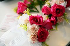 debut ideas Give members of your cotillion pretty corsages which they can wear. Debut Ideas, Corsages, Table Decorations, Rose, Birthday, Pretty, Ph, Flowers, Inspiration