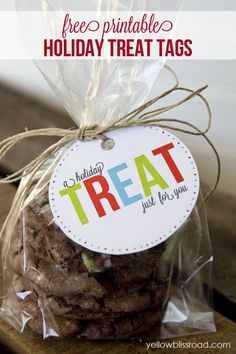 Holiday Treat Tags from Yellow Bliss Road |  Printables, DIY & Gifts for Christmas
