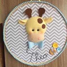 Giraffe Embroidery Hoop