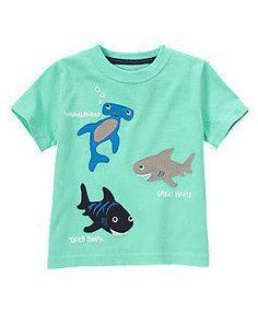 NWT GYMBOREE SHARK PATROL Tee Polo Shirt Hoodie Knit Active Shorts 2T 3T 4T 5T